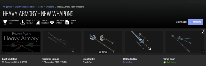 Heavy armoury new weapons