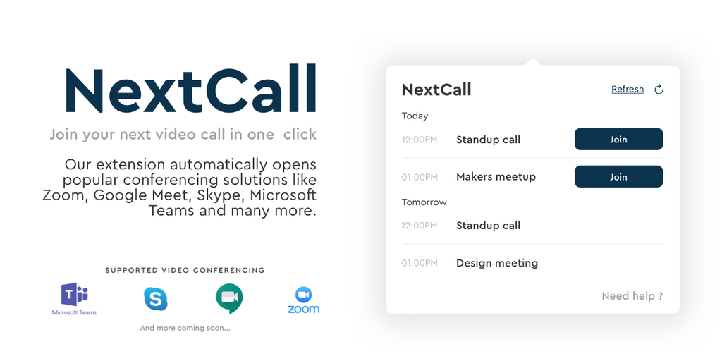Join Meetings in One Click with NextCall